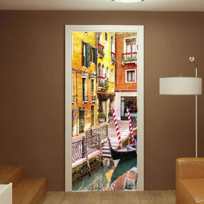 Αυτοκόλλητο πόρτας Venice retro