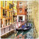 Venice retro,αυτοκόλλητο πόρτας