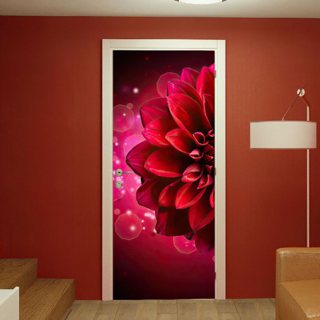 Door sticker Dahlia