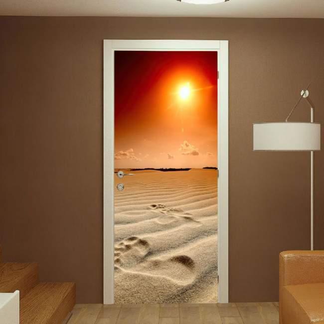 Αυτοκόλλητο πόρτας Foot prints