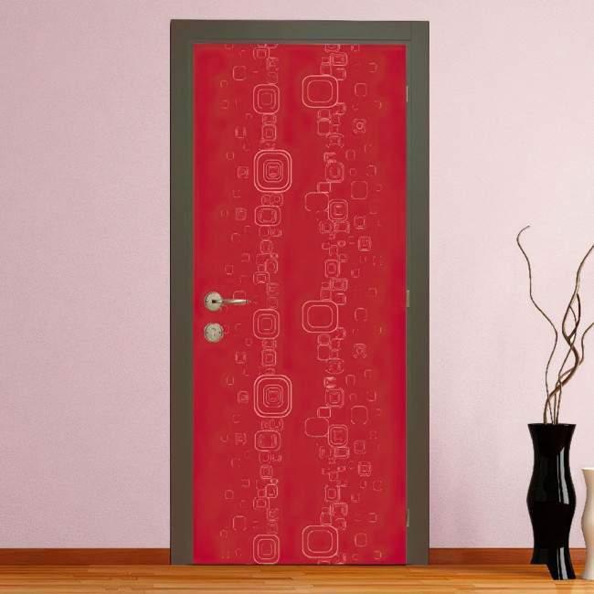 Αυτοκόλλητο πόρτας Redish rectangles