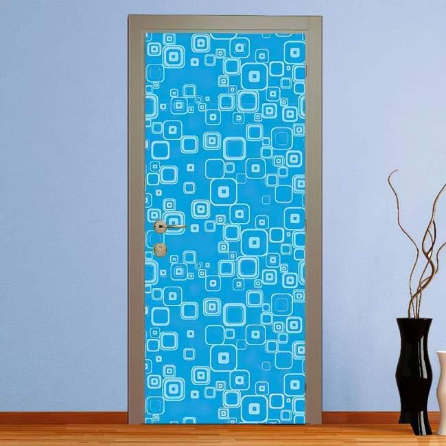 Αυτοκόλλητο πόρτας Blue rectangles