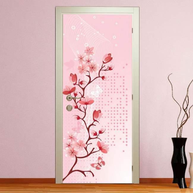 Αυτοκόλλητο πόρτας Blossomed spring