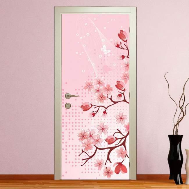 Αυτοκόλλητο πόρτας Blossomed spring II