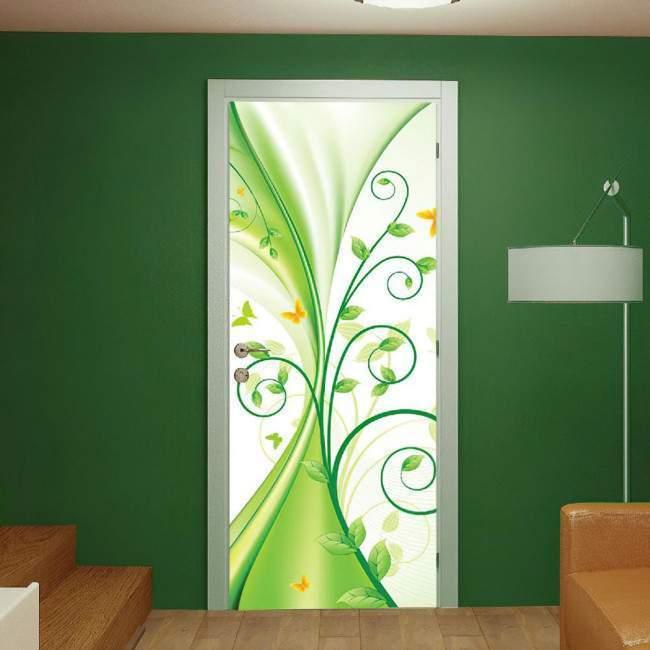 Αυτοκόλλητο πόρτας Liquid green
