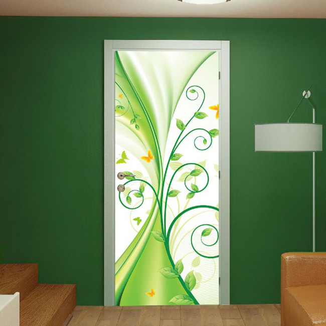Door sticker Liquid green