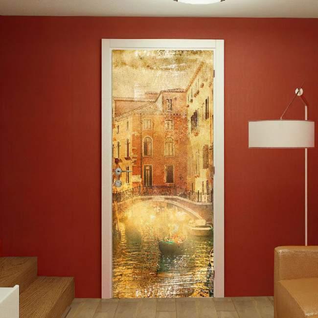 Αυτοκόλλητο πόρτας Venice vintage
