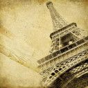 Door sticker Eiffel tower vintage