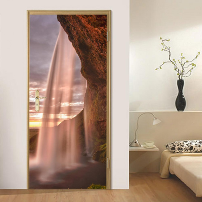 Door sticker Amazing waterfalls