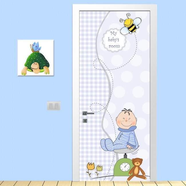 Αυτοκόλλητο πόρτας My boy's room, παιδικό