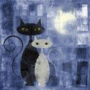 The cats blue,αυτοκόλλητο πόρτας