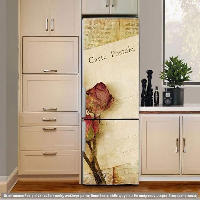 Αυτοκόλλητο ψυγείου Carte postale