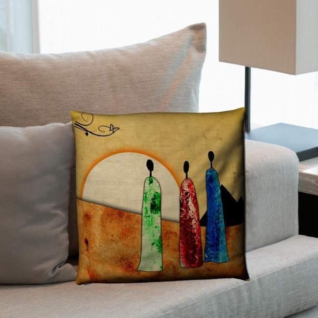 Pillow Africa scene