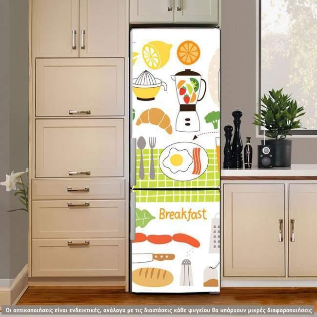 Αυτοκόλλητο ψυγείου Food! (art2)