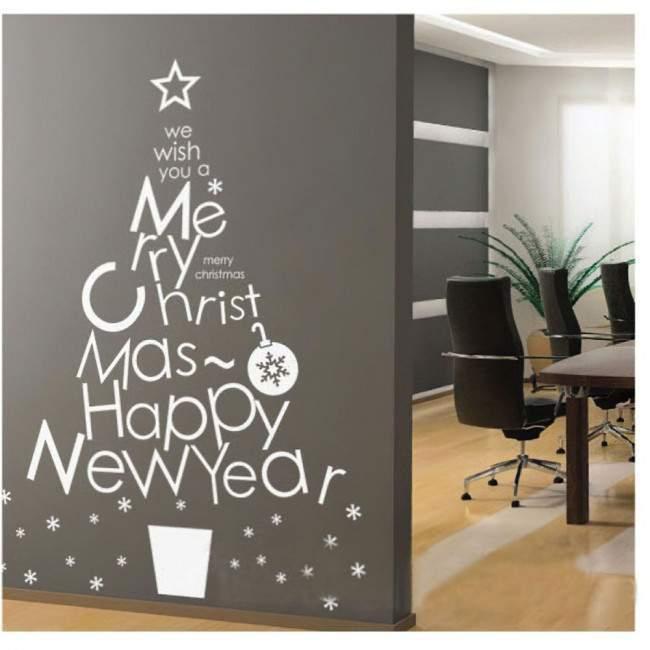 Wishes Christmas tree αυτοκόλλητο βιτρίνας - τοίχου.