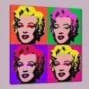 Marilyn Monroe pop art, αντίγραφο - αναπαραγωγή πίνακα σε καμβά, κοντινό