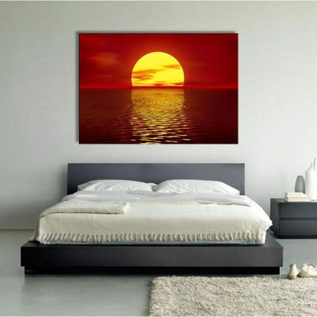 Canvas print Sunset, Red sunset
