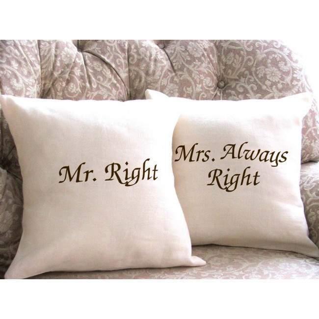 Μαξιλάρι διακοσμητικό Mr Right, Mrs Always Right