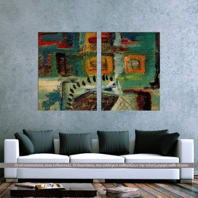 Πίνακας σε καμβά Symmetry abstract, δίπτυχος