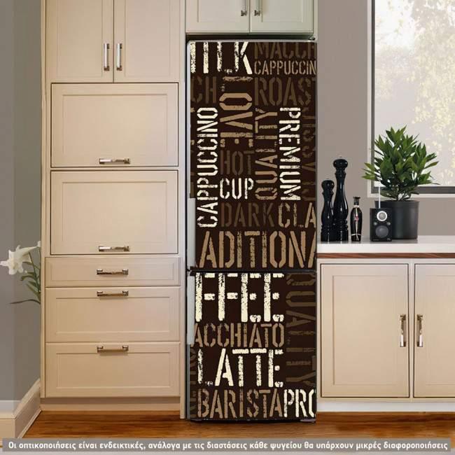 Αυτοκόλλητο ψυγείου Coffee