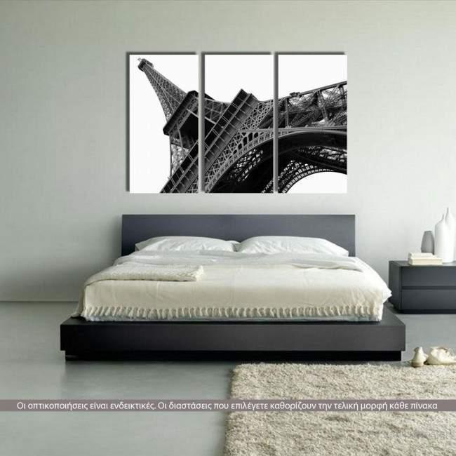 Πίνακας σε καμβά Πύργος του Άιφελ, τρίπτυχος