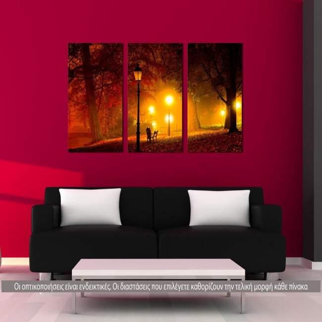 Πίνακας σε καμβά Light path, τρίπτυχος