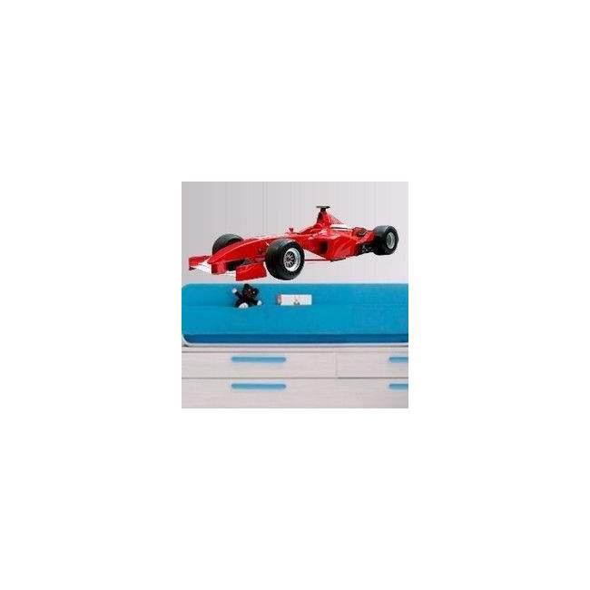 Αυτοκόλλητο τοίχου Αγωνιστικό αυτοκίνητο, Κοκκινο, F1 Formula One