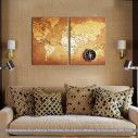 Canvas print World map, two panels