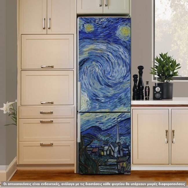 Fridge sticker Van Gogh Starry Night