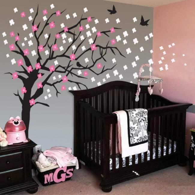 Αυτοκόλλητα τοίχου Κερασιά, Elegant cherry blossom tree