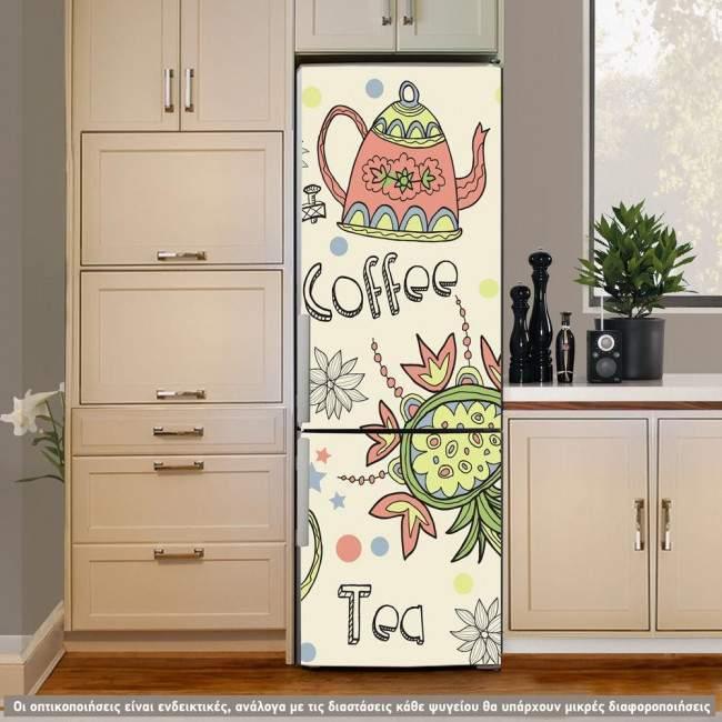 Αυτοκόλλητο ψυγείου Coffee or Tea