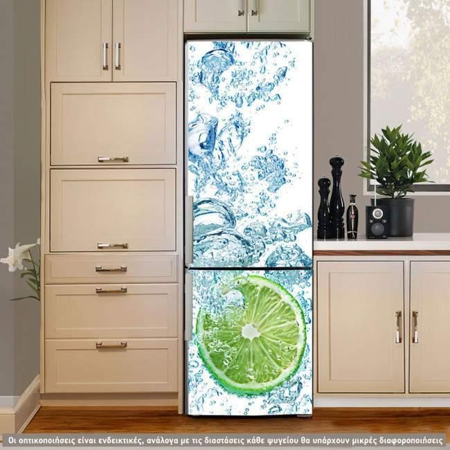 Αυτοκόλλητο ψυγείου Lime fresh