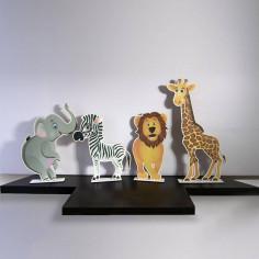 Wooden figures Jungle animals
