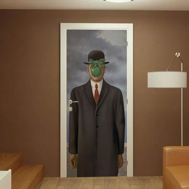 Αυτοκόλλητο πόρτας Son of a man, Rene Magritte