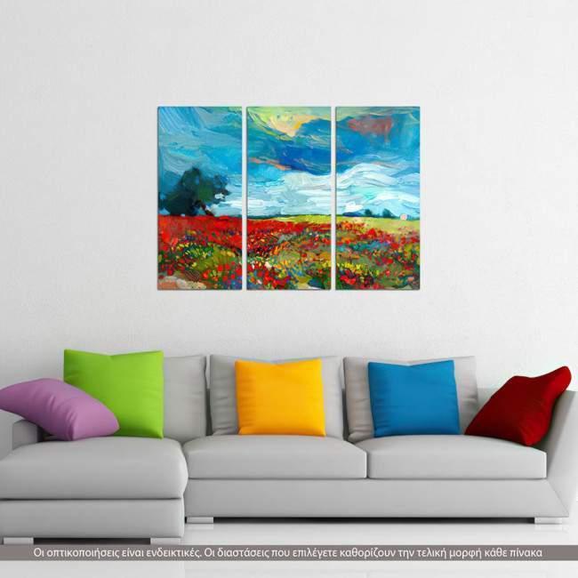 Canvas print Spring bloom,  3 panels