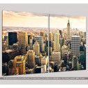 Manhattan & the Empire state building, δίπτυχος  πίνακας σε καμβά, κοντινό