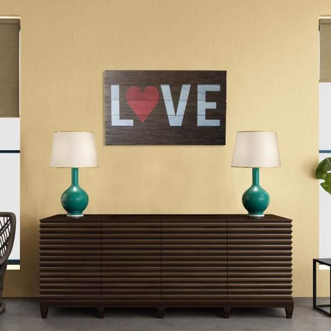 L♥VE πινακίδα ξύλινη διακοσμητική
