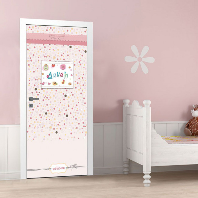 Αυτοκόλλητο πόρτας Big girl's room, παιδικό
