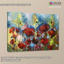 Canvas print Poppies, Red spring poppy, side