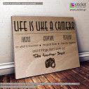 Ξύλινη πινακίδα Life is like a camera