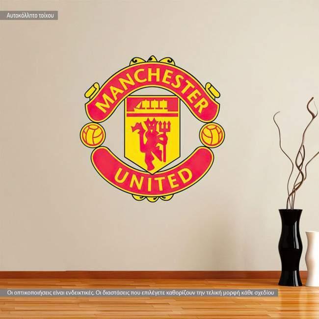 Αυτοκόλλητο τοίχου Manchester United