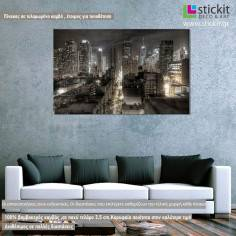 Canvas print New York lights