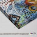 Canvas print Lennon's wall, detail