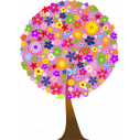 Wall stickers Flower tree, lilac background