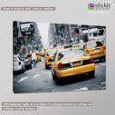 Canvas printNew York, New York cab, side
