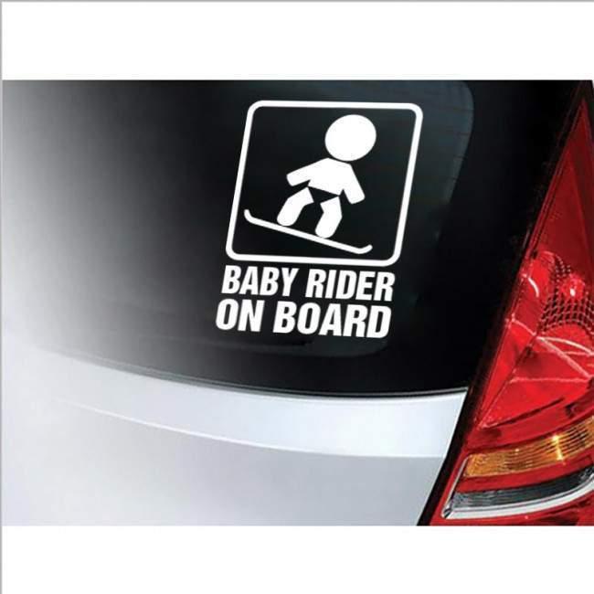Αυτοκόλλητο αυτοκινήτου παιδικό Baby rider on Board