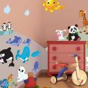 Kids wall stickers Animals Animals of land and sea