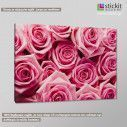 Canvas print Pink roses, side