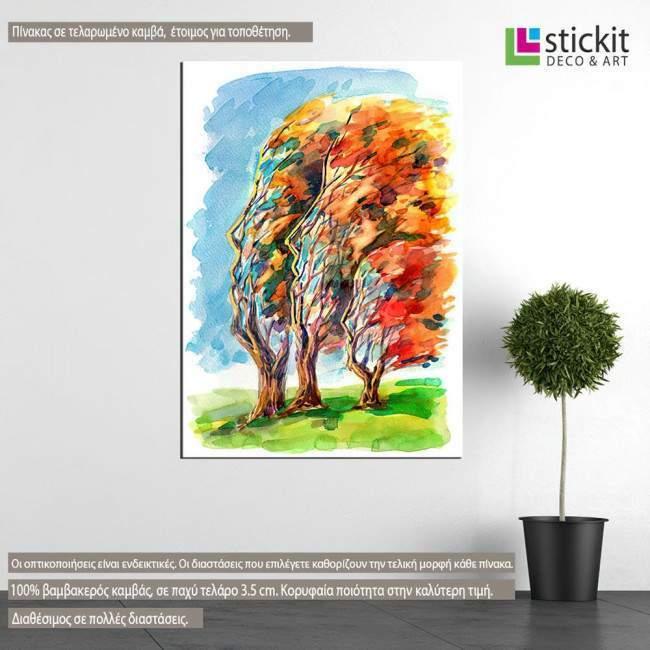 Πίνακας σε καμβά Human trees