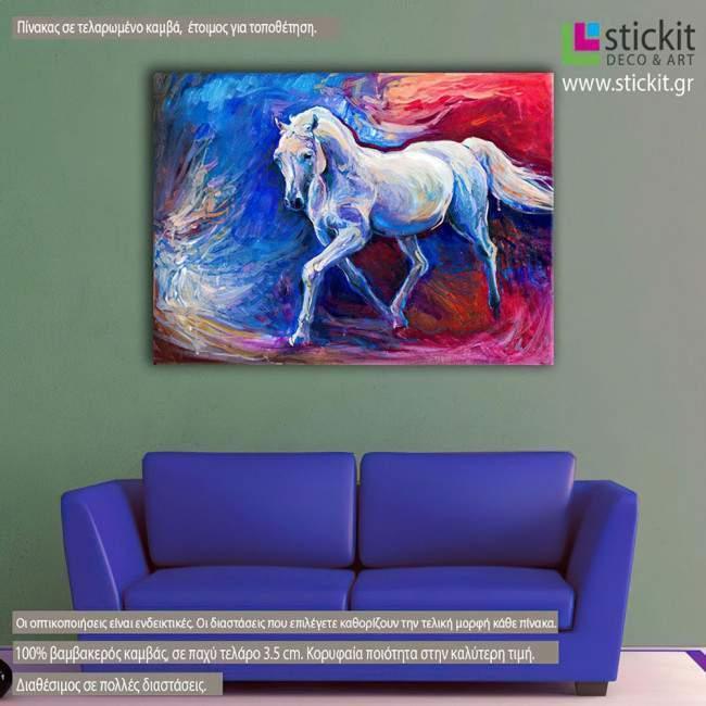 Canvas print Blue horse